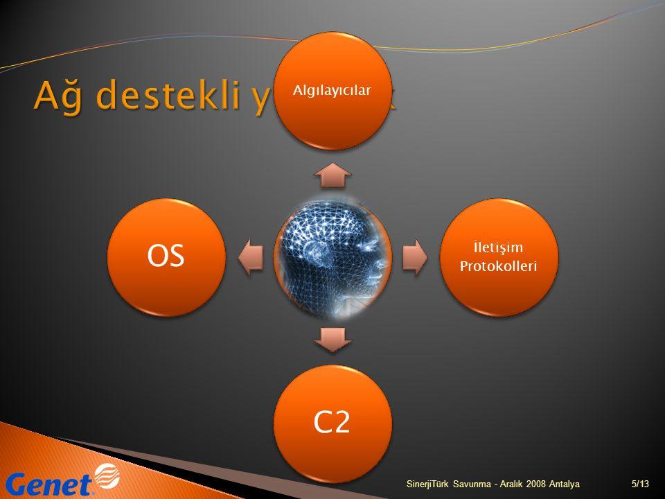6/13SinerjiTürk Savunma - Aralık 2008 Antalya ÇıkarımKontrolÖğrenebilmeYardımlaşmaOrganizasyon Akıllı sensör ağı Teknolojileri