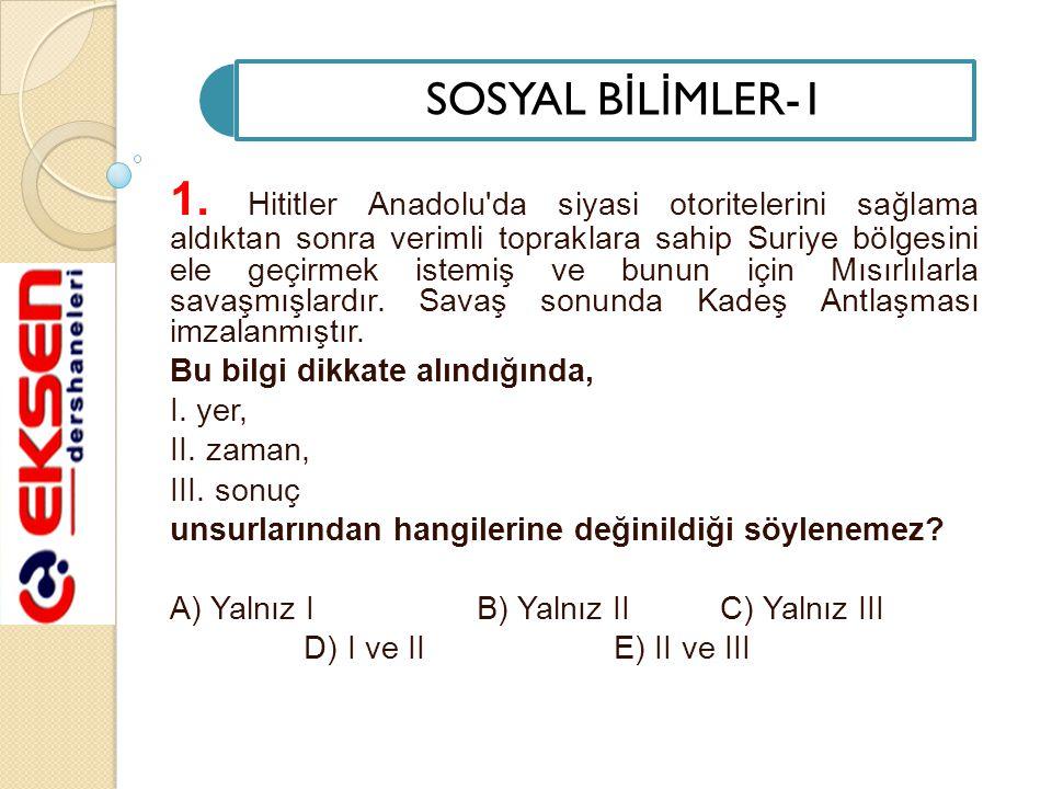 SOSYAL B İ L İ MLER-1 1.