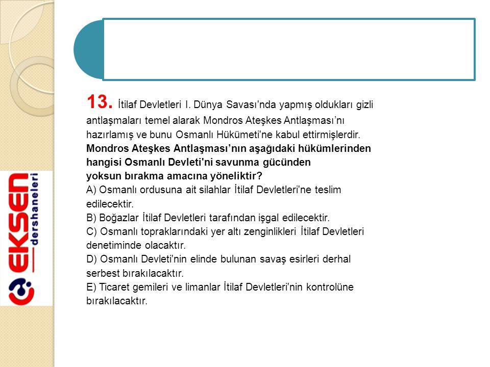 13. İtilaf Devletleri I.