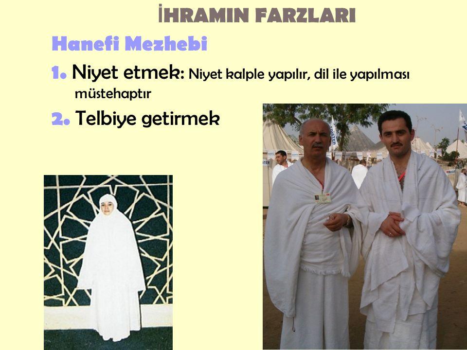 İ HRAMIN FARZLARI Hanefi Mezhebi 1.