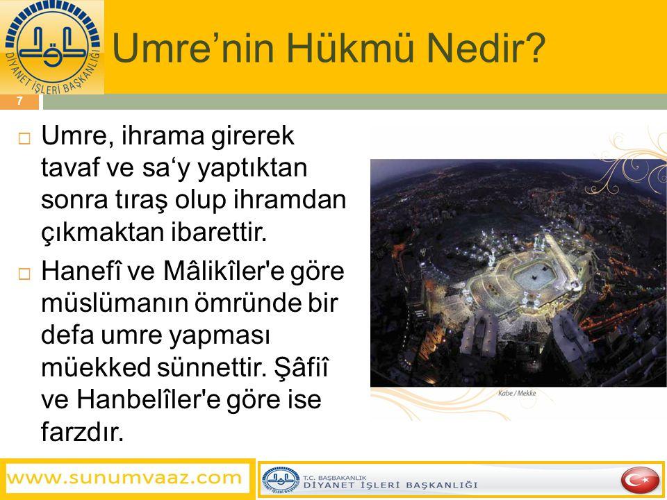 Umre'nin Hükmü Nedir.
