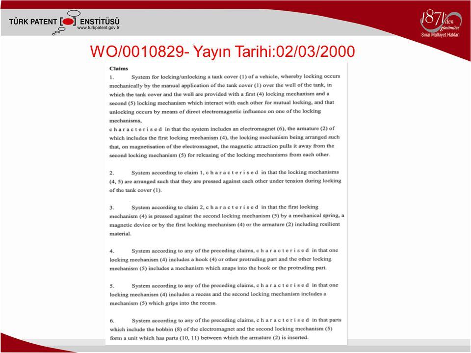 WO/0010829- Yayın Tarihi:02/03/2000