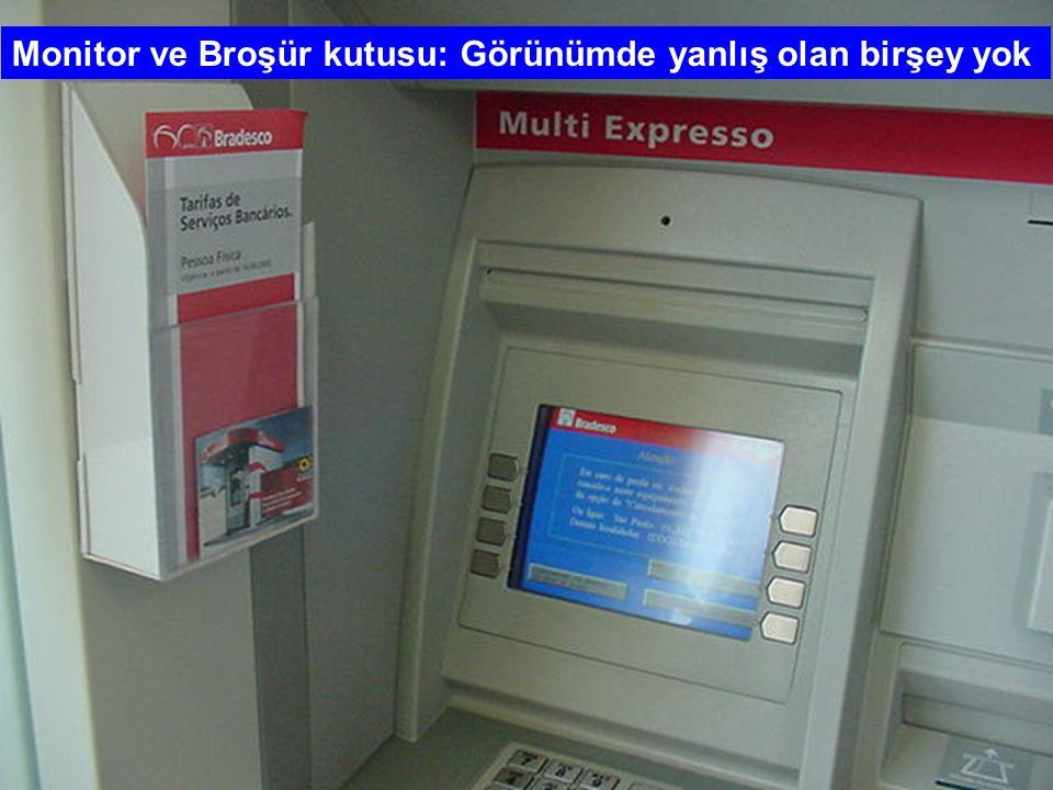 Aynı renkte bir makine eklenmiş. Bu araç kredi kartınızı okuyor ve bilgilerini kopyalıyor... Kartınızın aynısının yapılmasını sağlıyor.