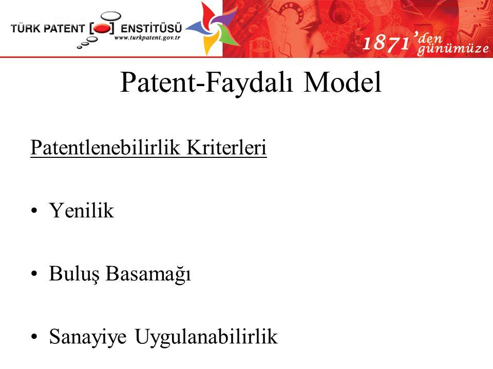 Patent-Faydalı Model Patent Verilerek Korunamayacak Buluşlar Konusu kamu düzenine veya genel ahlaka aykırı olan buluşlar Bitki veya hayvan türleri vey