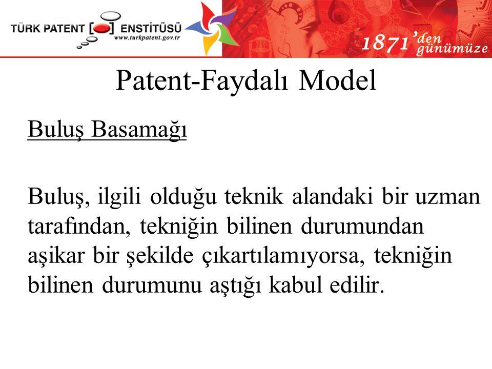 Patent-Faydalı Model Yenilik Patent başvurusunun yapıldığı tarihten önce, buluş konusunda dünyanın herhangi bir yerinde toplumca erişilebilir yazılı v