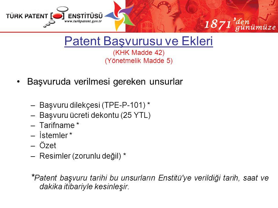 Detaylı Bilgi İçin… Patent başvurusuna ilişkin detaylı bilgi için Patent/Faydalı Model Başvuru Kılavuzu 551 Sayılı Patent Haklarının Korunması Hakkınd