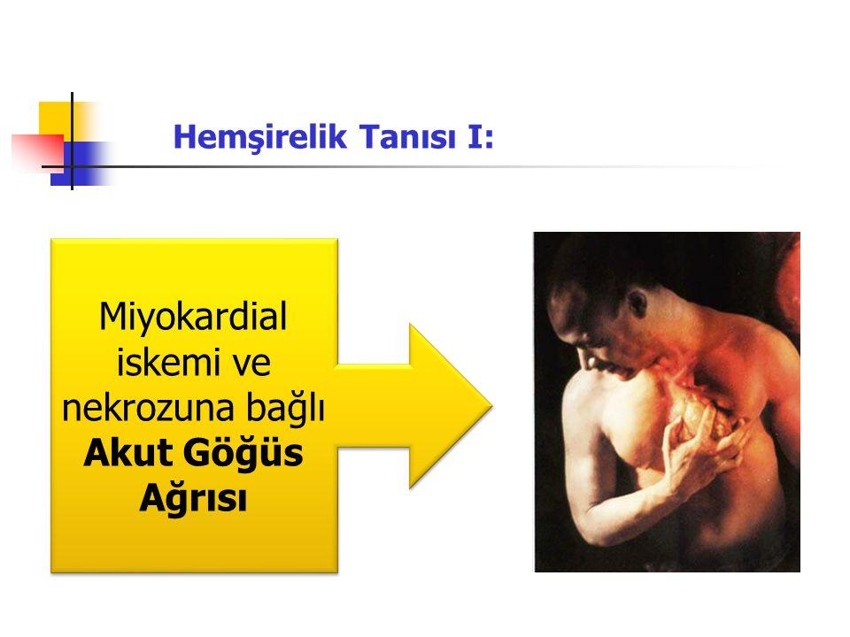 Miyokardial iskemi ve nekrozuna bağlı Akut Göğüs Ağrısı Hemşirelik Tanısı I: