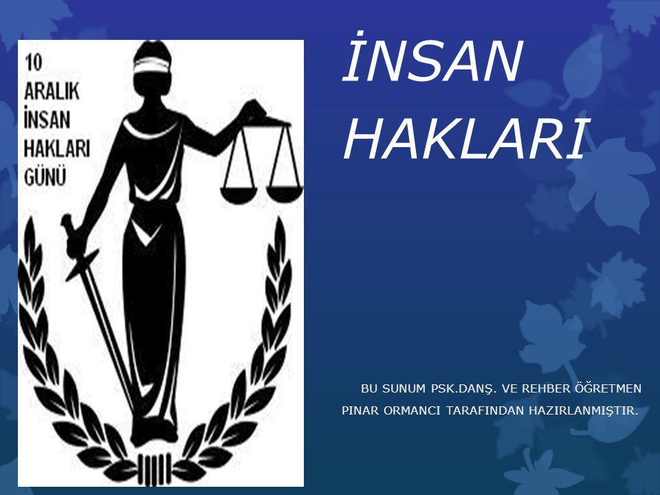 1982 Anayasasında Kişinin Hakları ve Ödevleri Nelerdir.