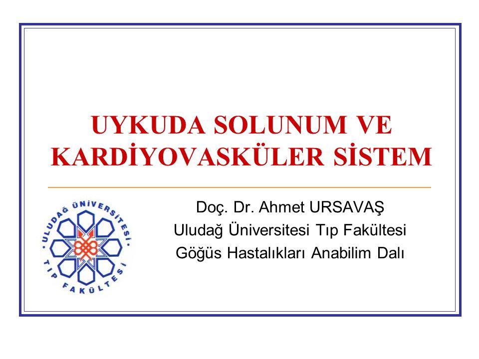 UYKUDA SOLUNUM VE KARDİYOVASKÜLER SİSTEM Doç. Dr. Ahmet URSAVAŞ Uludağ Üniversitesi Tıp Fakültesi Göğüs Hastalıkları Anabilim Dalı