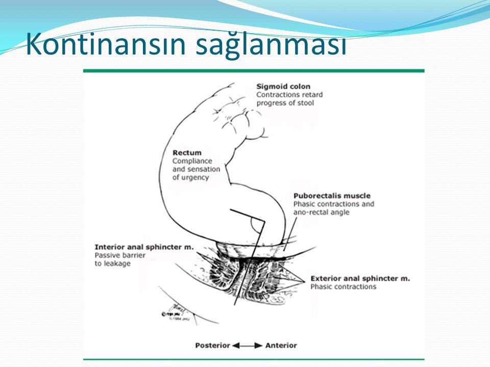 Obstetrik anal sfinkter hasarı Risk faktörleri operatif vajinal doğum, median epizyotomi, fetal makrozomi ve ileri anne yaşıdır.