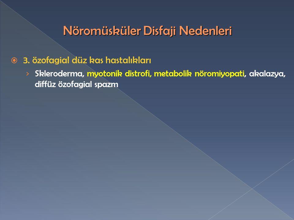  3. özofagial düz kas hastalıkları › Skleroderma, myotonik distrofi, metabolik nöromiyopati, akalazya, diffüz özofagial spazm