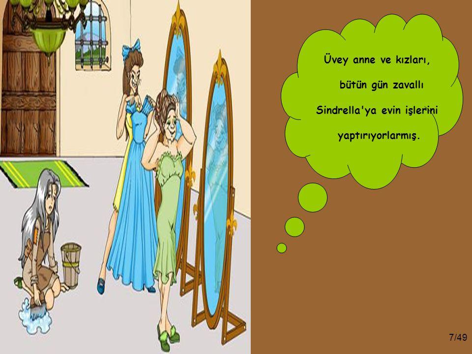 6/49 O yüzden Sindrella'yı hizmetçi olarak görmeye, o şekilde davranmaya başlamışlar, baba da bu duruma ses çıkaramayacak kadar zayıf karakterli bir a