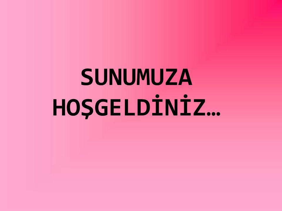 SUNUMUZA HOŞGELDİNİZ…