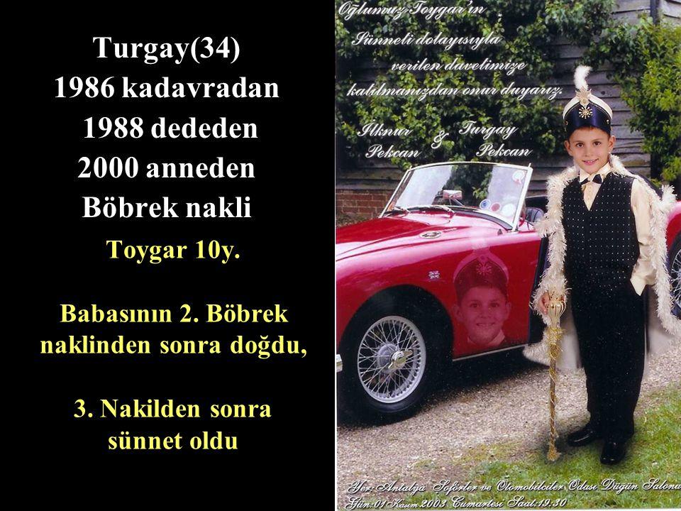 Toygar 10y.Babasının 2. Böbrek naklinden sonra doğdu, 3.