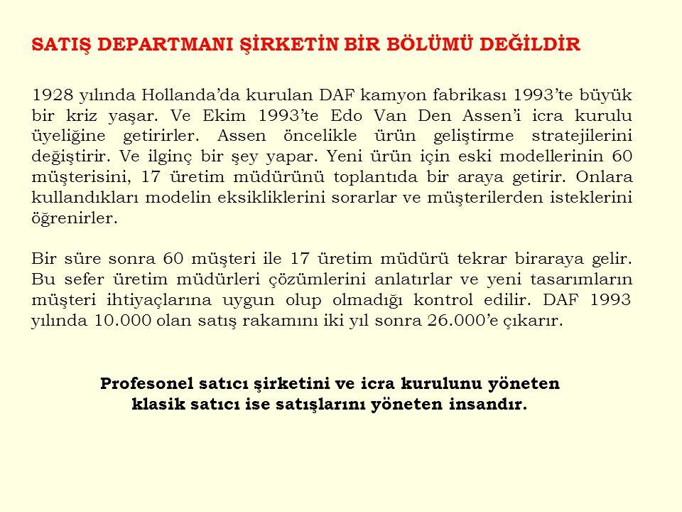 1928 yılında Hollanda'da kurulan DAF kamyon fabrikası 1993'te büyük bir kriz yaşar. Ve Ekim 1993'te Edo Van Den Assen'i icra kurulu üyeliğine getirirl