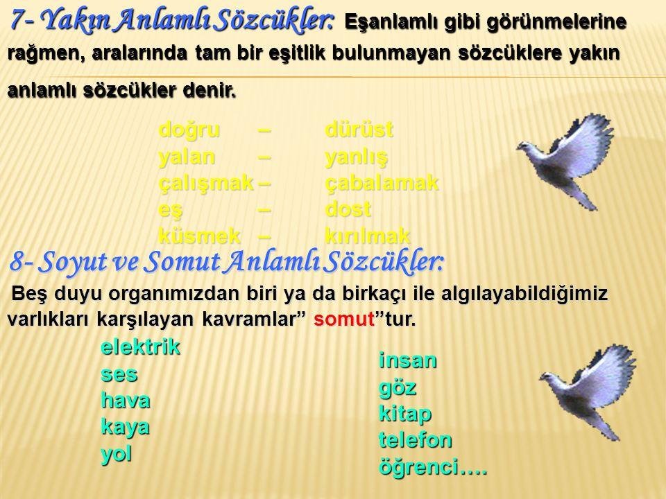 ( 2002 - DPY) Aşağıdaki sözcüklerden hangisinin eş seslisi yoktur.