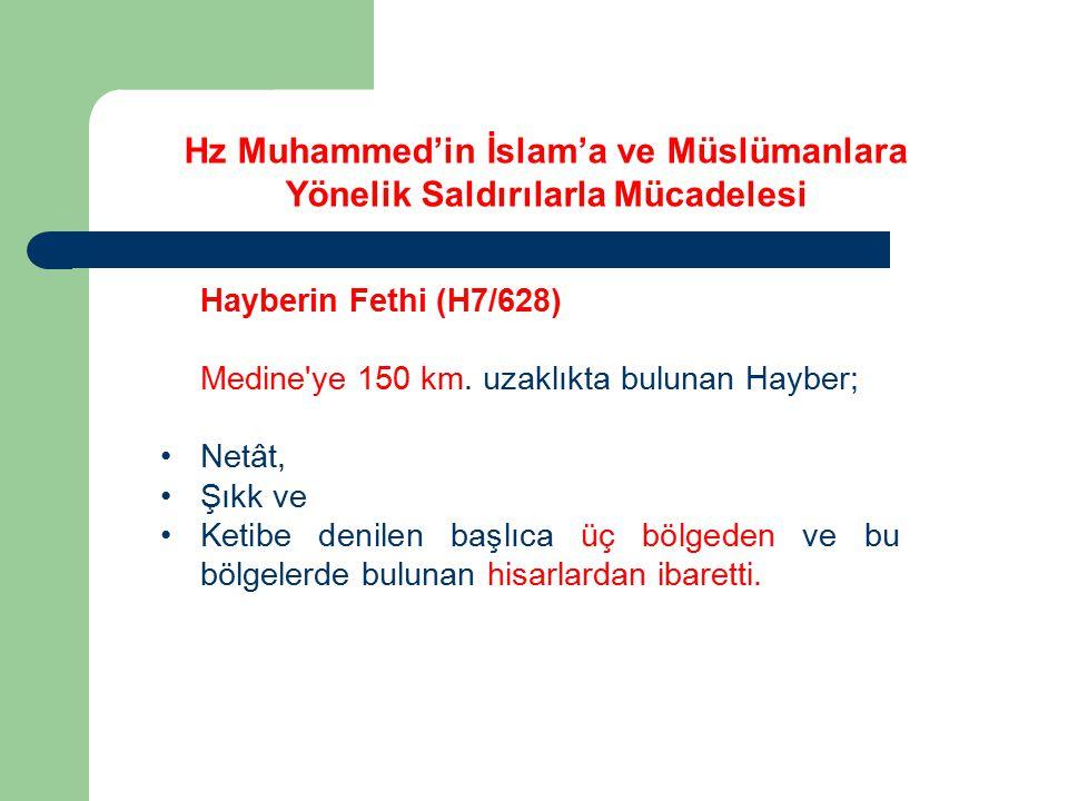 Hayberin Fethi (H7/628) Medine'ye 150 km. uzaklıkta bulunan Hayber; Netât, Şıkk ve Ketibe denilen başlıca üç bölgeden ve bu bölgelerde bulunan hisarla