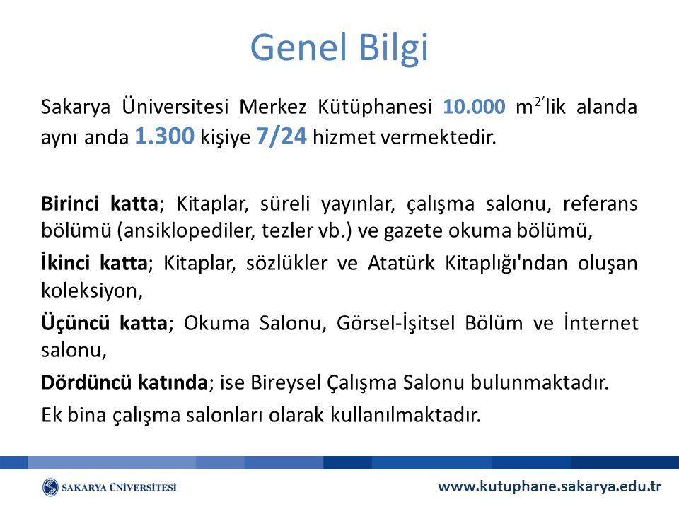 Kütüphane Bütçesi ve Satın Alma 2014 Yılı Bütçesi: 1.500.100.-TL Satın Alma Abonelik www.kutuphane.sakarya.edu.tr