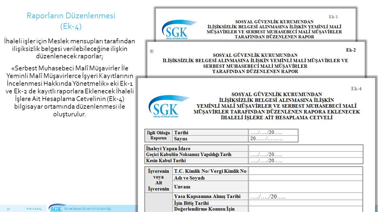 İhaleli işler için Meslek mensupları tarafından ilişiksizlik belgesi verilebileceğine ilişkin düzenlenecek raporlar; «Serbest Muhasebeci Malî Müşavirler İle Yeminli Malî Müşavirlerce İşyeri Kayıtlarının İncelenmesi Hakkında Yönetmelik» eki Ek-1 ve Ek-2 de kayıtlı raporlara Eklenecek İhaleli İşlere Ait Hesaplama Cetvelinin (Ek-4) bilgisayar ortamında düzenlenmesi ile oluşturulur.