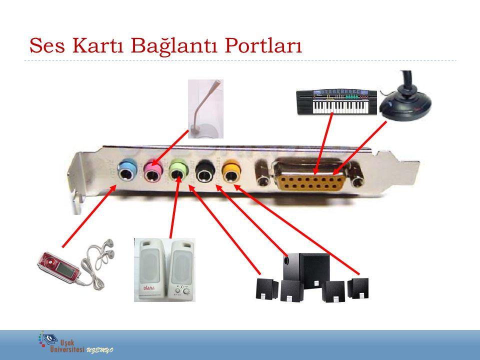 Ses Kartı Bağlantı Portları