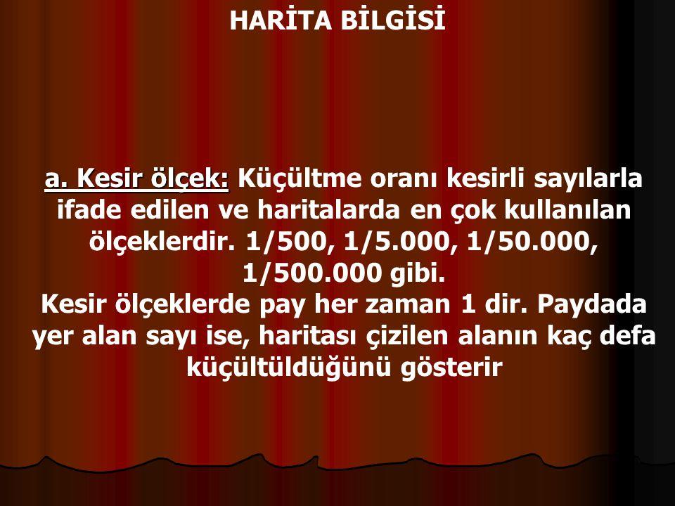 HARİTA BİLGİSİ B.