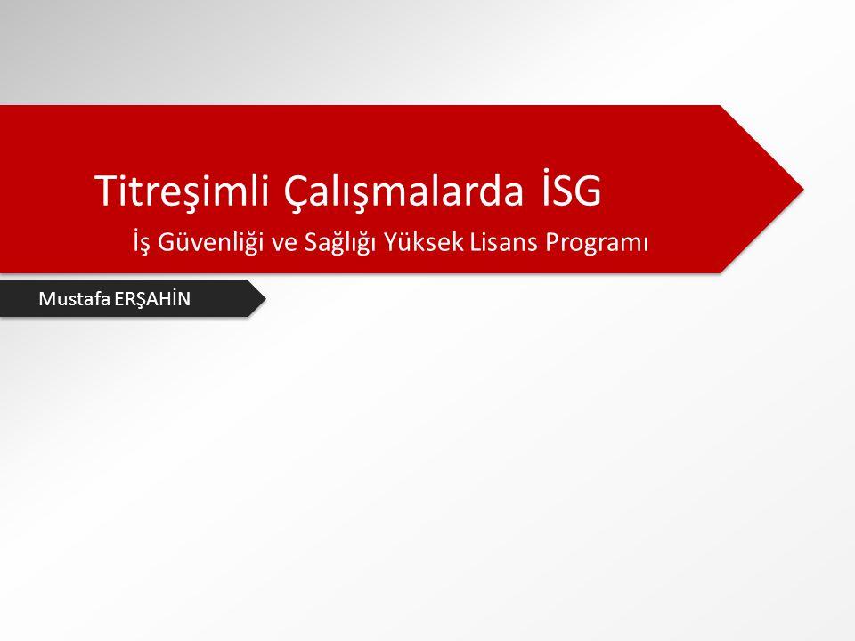 Titreşimli Çalışmalarda İSG İş Güvenliği ve Sağlığı Yüksek Lisans Programı Mustafa ERŞAHİN