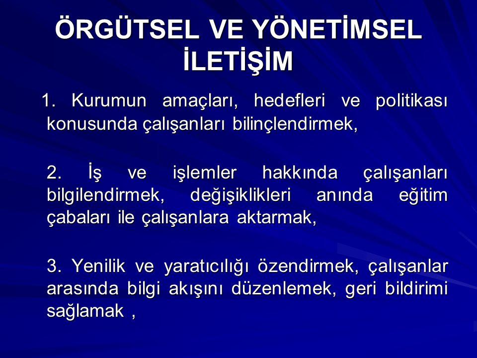 ÖRGÜTSEL VE YÖNETİMSEL İLETİŞİM 1.
