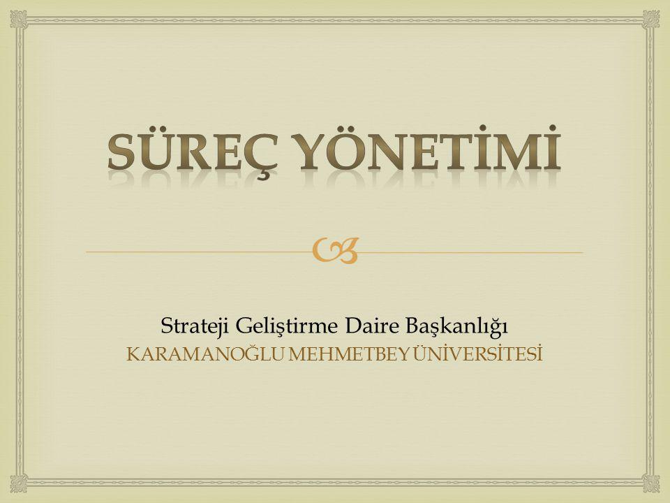  Strateji Geliştirme Daire Başkanlığı KARAMANOĞLU MEHMETBEY ÜNİVERSİTESİ