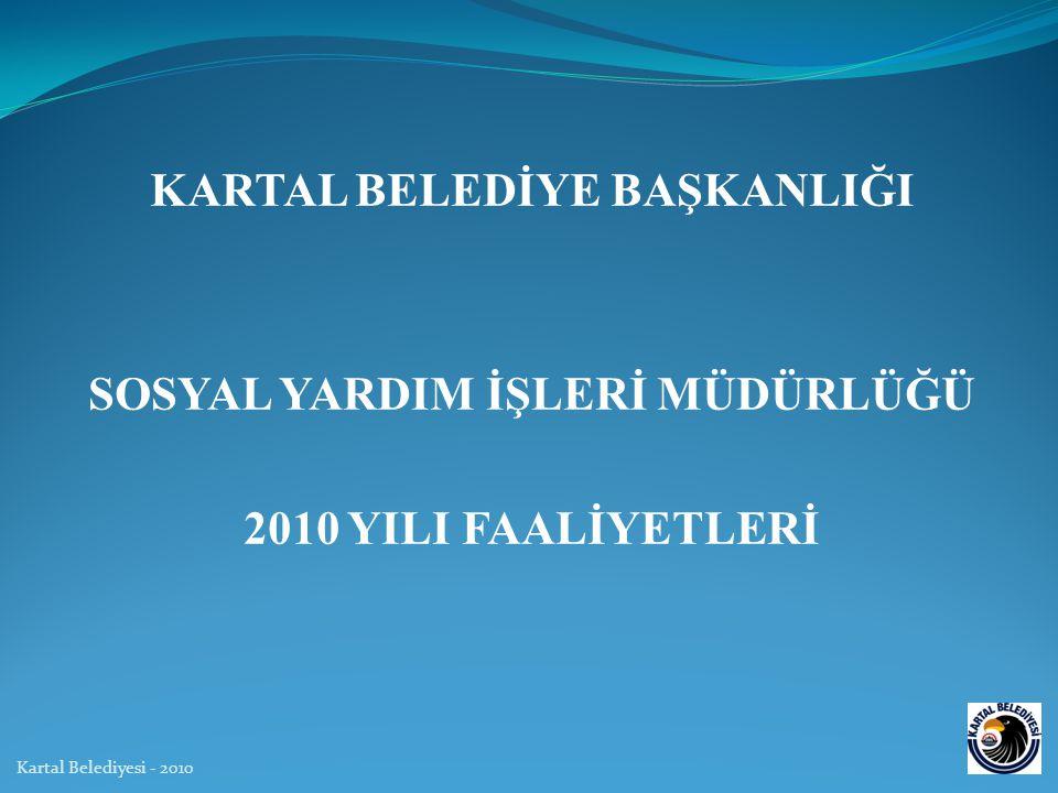 KARTAL BELEDİYE BAŞKANLIĞI SOSYAL YARDIM İŞLERİ MÜDÜRLÜĞÜ 2010 YILI FAALİYETLERİ Kartal Belediyesi - 2010