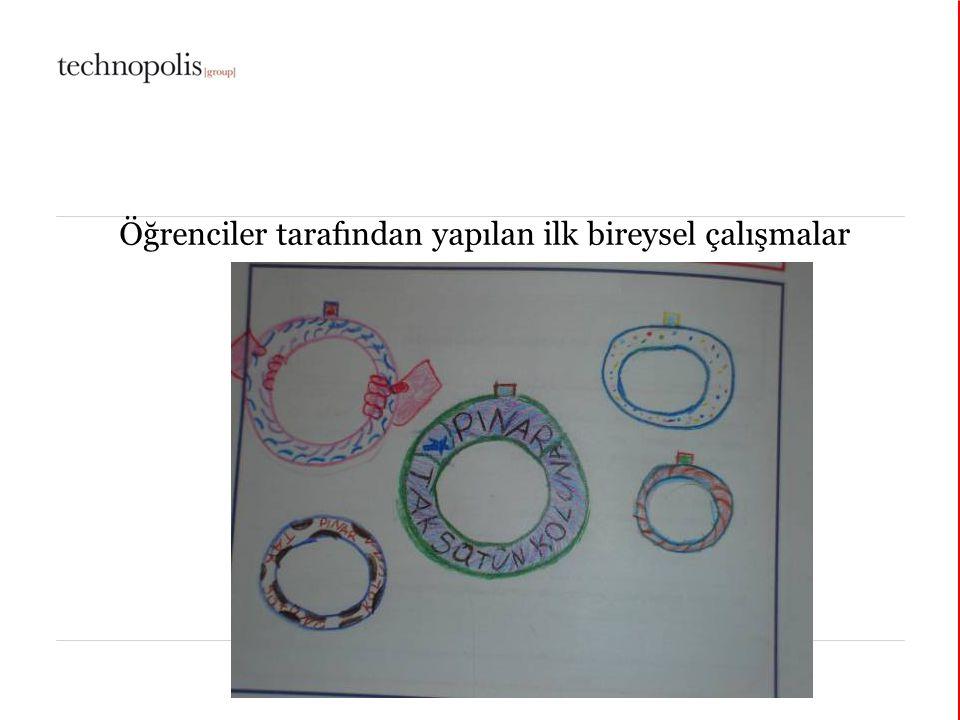 © Şirin Elçi, 2006 Öğrenciler tarafından yapılan ilk bireysel çalışmalar