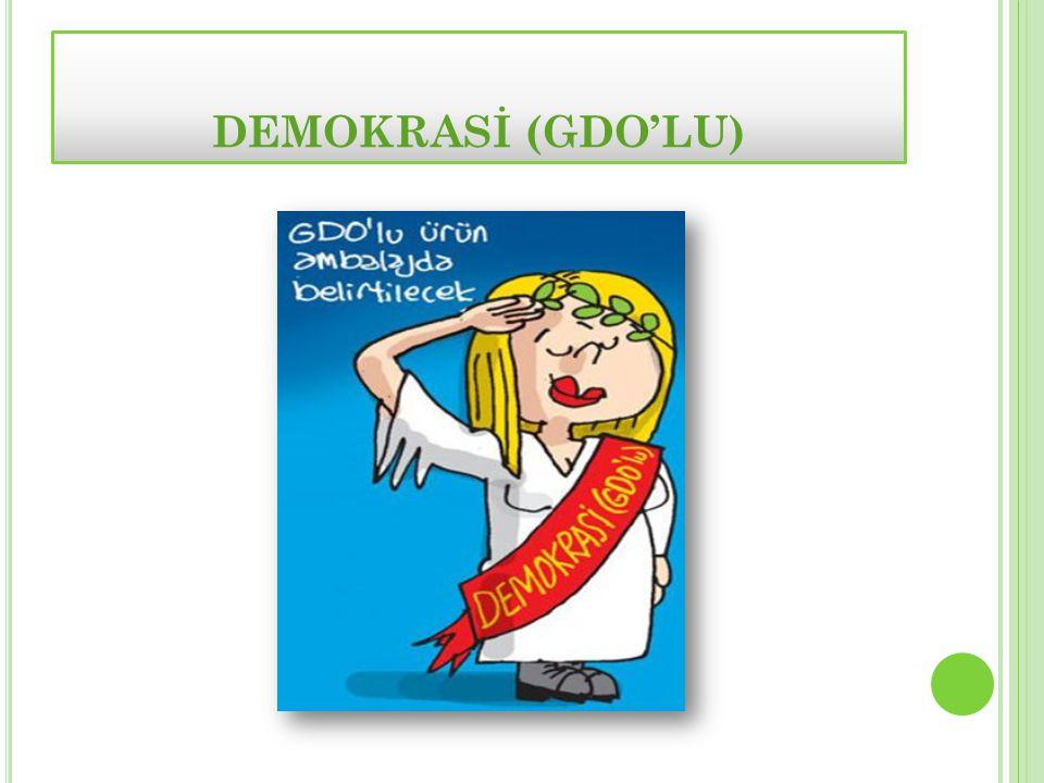DEMOKRASİ (GDO'LU)