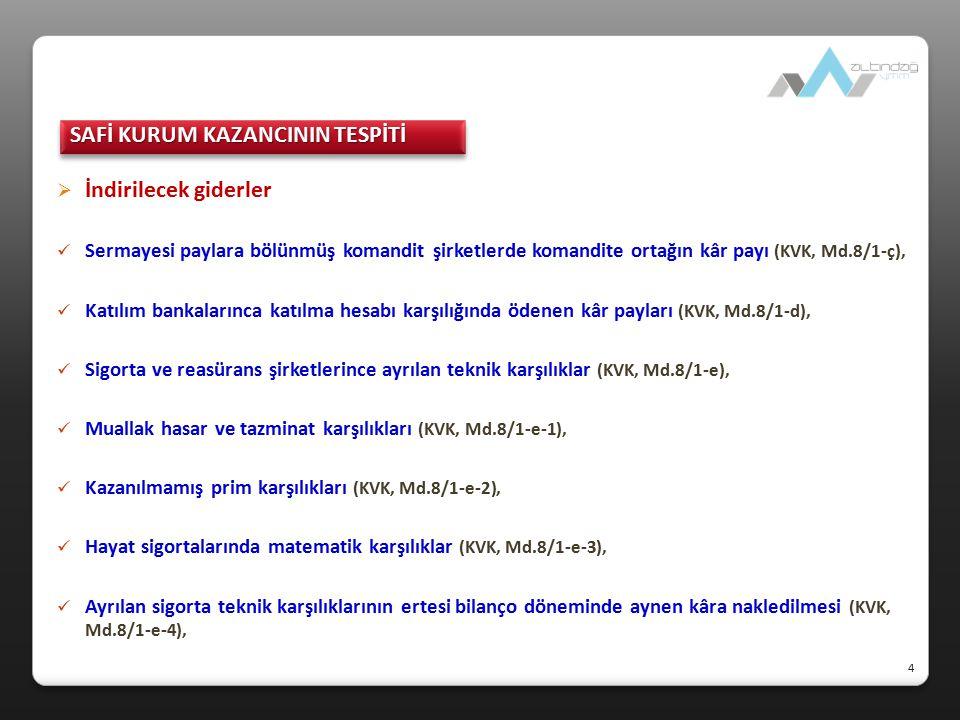  KV matrahına dahil edilecek KEYK kazancı KEYK'in Türkiye'de vergiye tabi tutulacak kazancı, zarar mahsubu dahil giderler düşüldükten istisnalar düşülmeden önceki, vergi öncesi kurum kazançlarıdır (1 Seri No.lu KV GT).