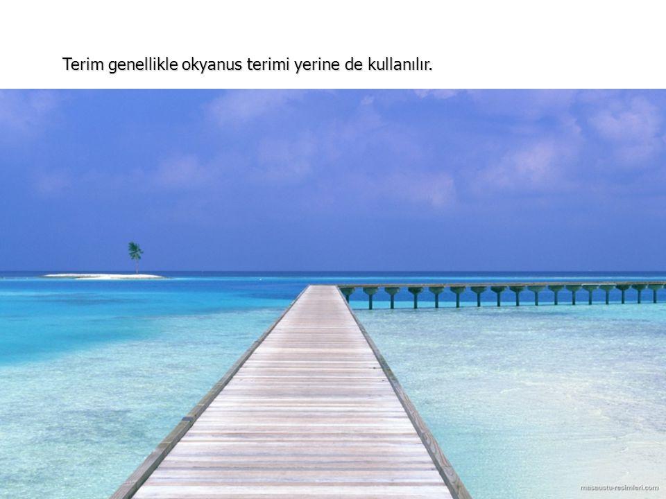 Deniz, bir okyanus ile bağı olan, büyük bir alanı kaplayan ve genellikle tuzlu olan su birikintisidir.