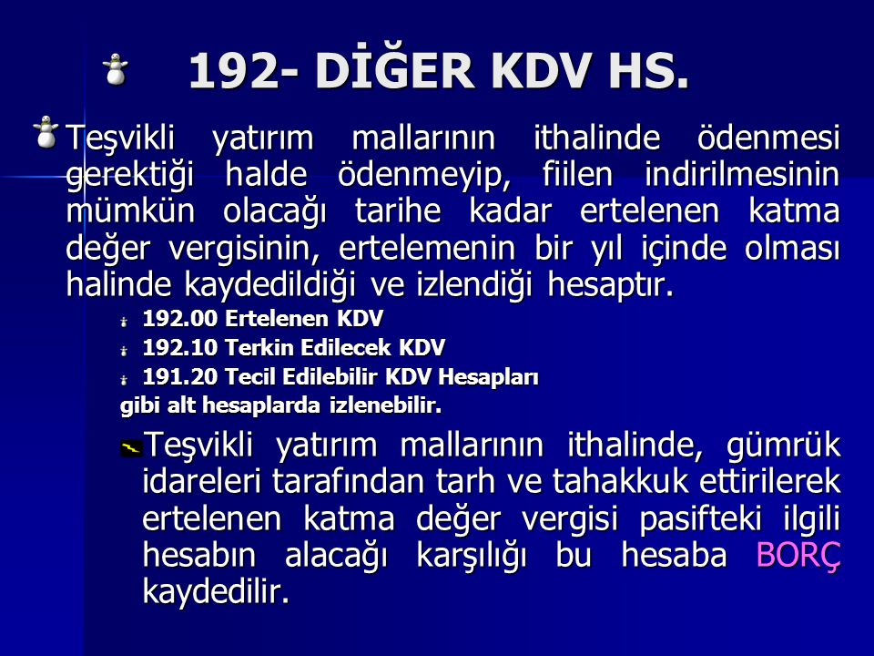 192- DİĞER KDV HS.192- DİĞER KDV HS.
