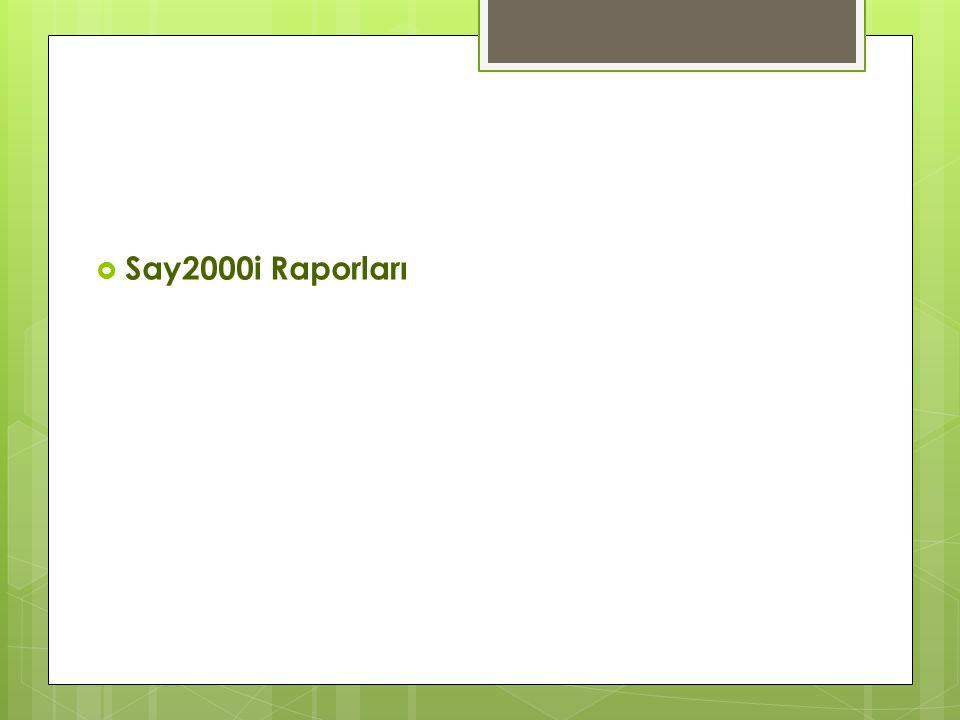  Say2000i Raporları