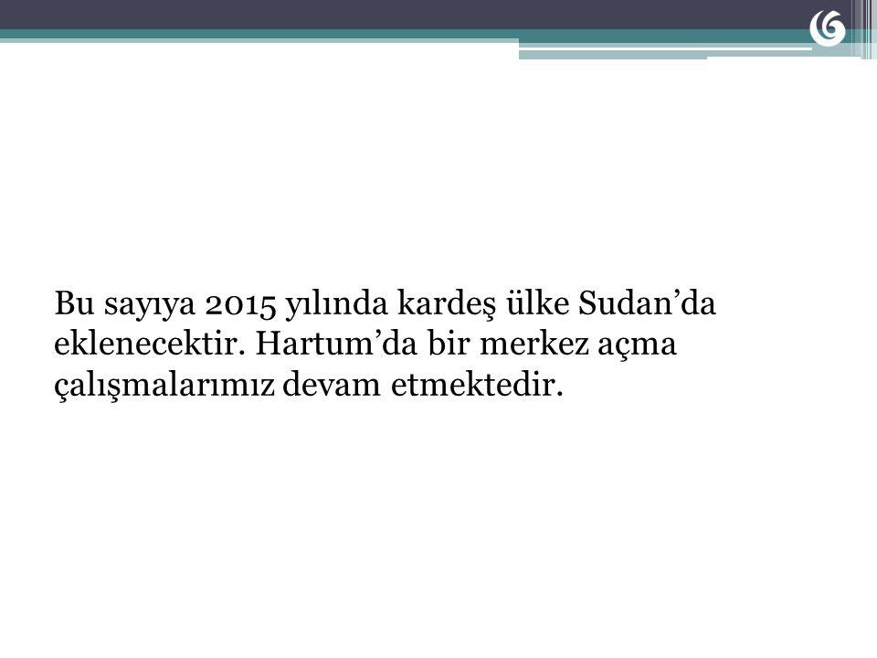 Bu sayıya 2015 yılında kardeş ülke Sudan'da eklenecektir.