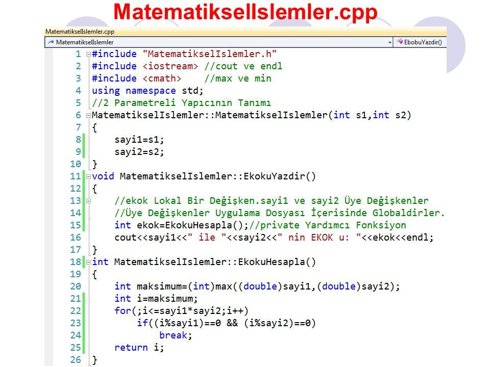 MatematikselIslemler.cpp