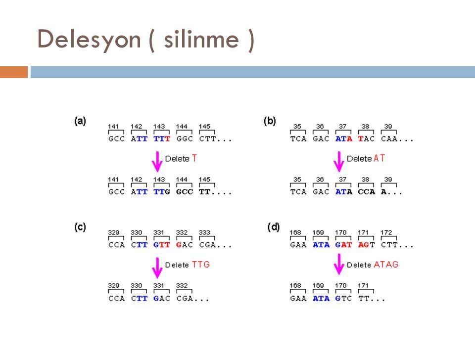 Delesyon ( silinme )