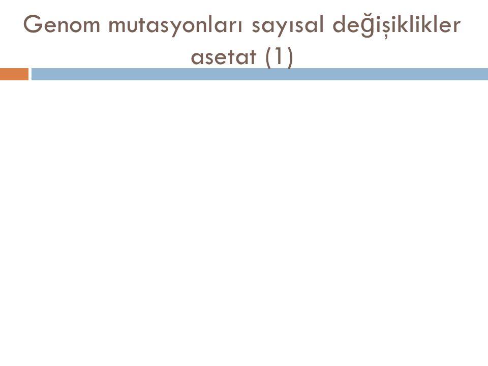 Genom mutasyonları sayısal de ğ işiklikler asetat (1)