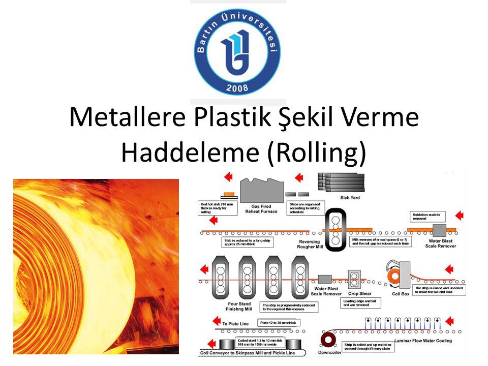 Metallere Plastik Şekil Verme Haddeleme (Rolling)