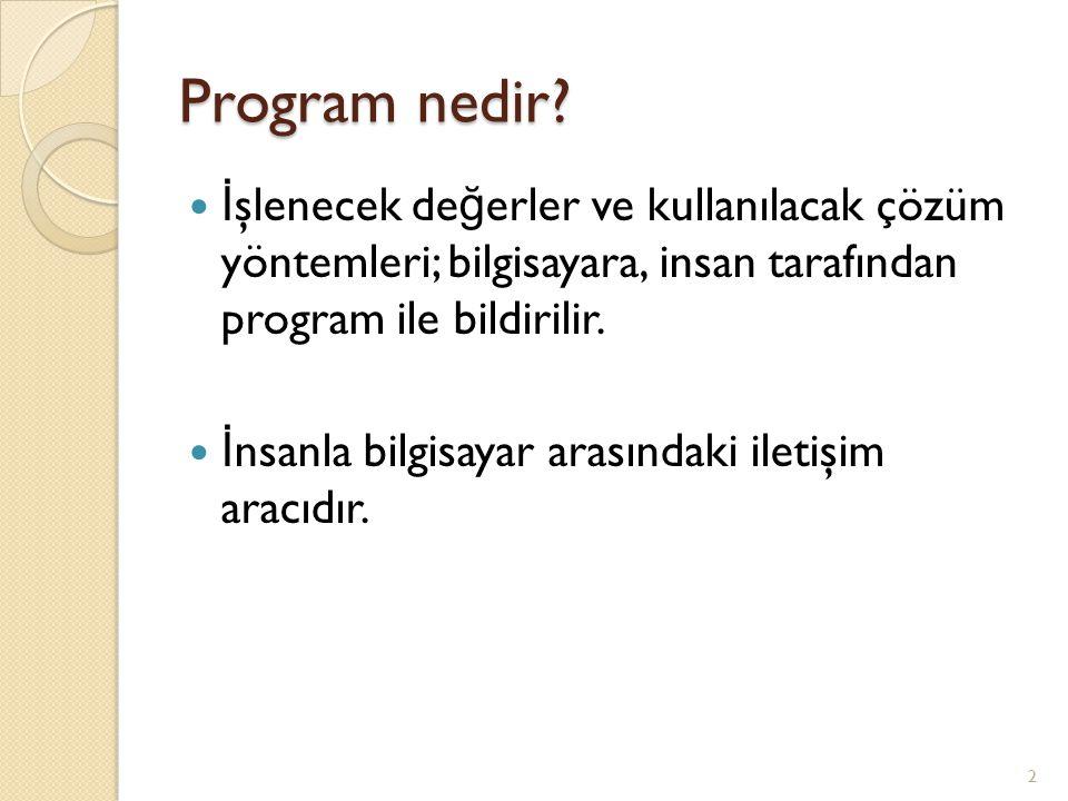 Program nedir.