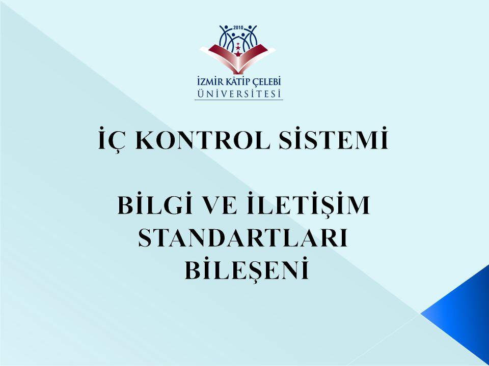 Standart Kod No Kamu İç Kontrol Standardı ve Genel Şartı BİS15 Kayıt ve Dosyalama Sistemi: İdareler, gelen ve giden her türlü evrak dahil iş ve işlemlerin kaydedildiği, sınıflandırıldığı ve dosyalandığı kapsamlı ve güncel bir sisteme sahip olmalıdır.