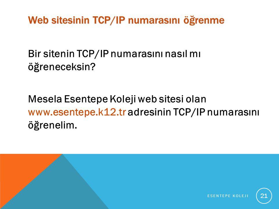 Web sitesinin TCP/IP numarasını öğrenme Bir sitenin TCP/IP numarasını nasıl mı öğreneceksin.
