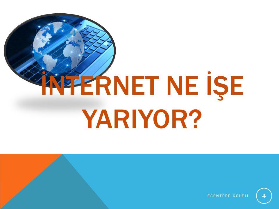 İNTERNET SAYESİNDE: Farklı ülkeler ve hatta farklı kıtalardaki bilgisayarlar karşılıklı olarak haberleşebiliyor ve bilgi alışverişi yapabiliyor.