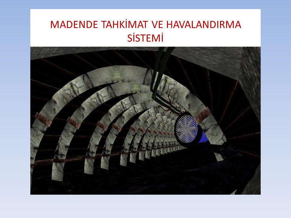 MADENDE TAHKİMAT VE HAVALANDIRMA SİSTEMİ
