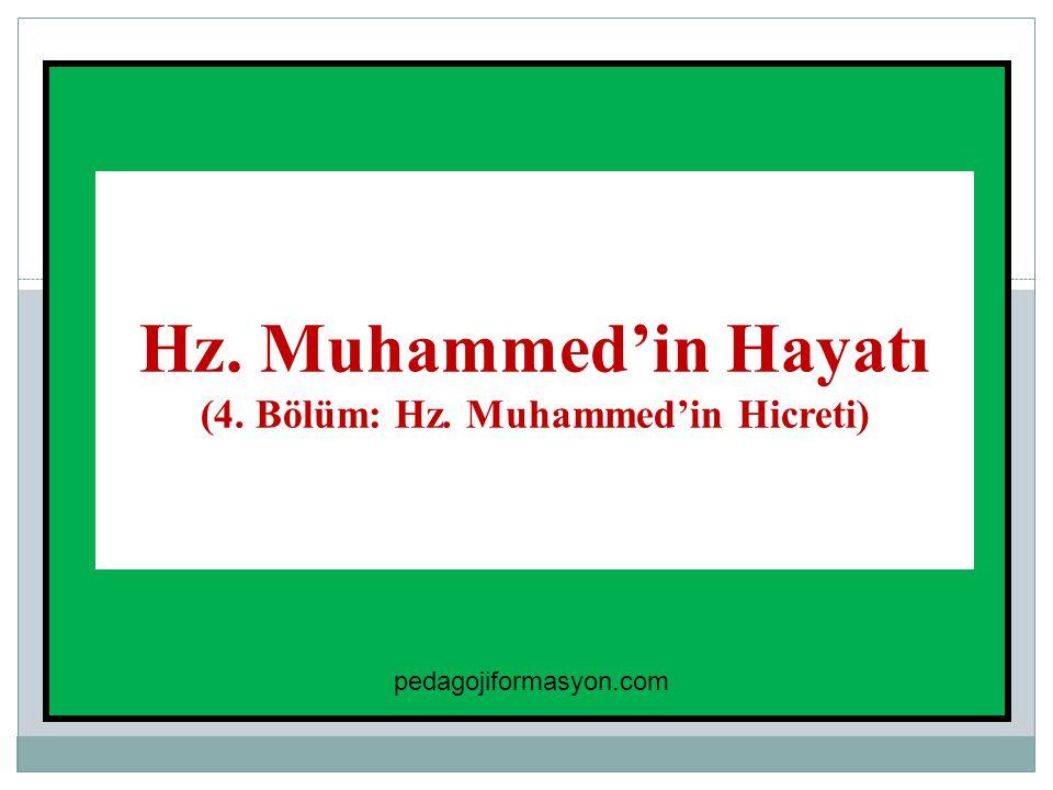 1 Hz. Muhammed'in Hayatı (4. Bölüm: Hz. Muhammed'in Hicreti) pedagojiformasyon.com