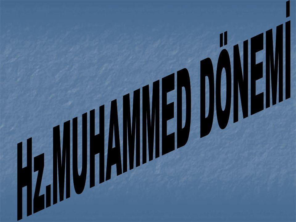 Hz.Muhammed in Siyasi ve Askeri Etkinlikleri : Hz.Muhammed in Siyasi ve Askeri Etkinlikleri : a.