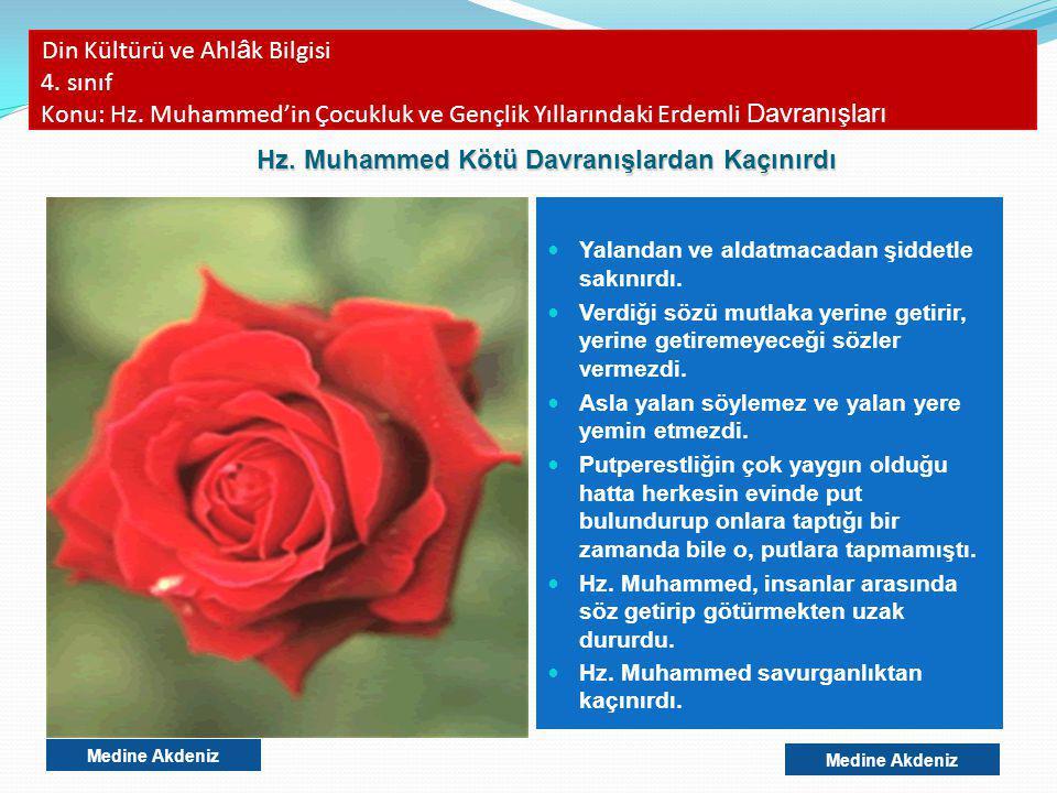 Din Kültürü ve Ahl â k Bilgisi 4.sınıf Konu: Hz.