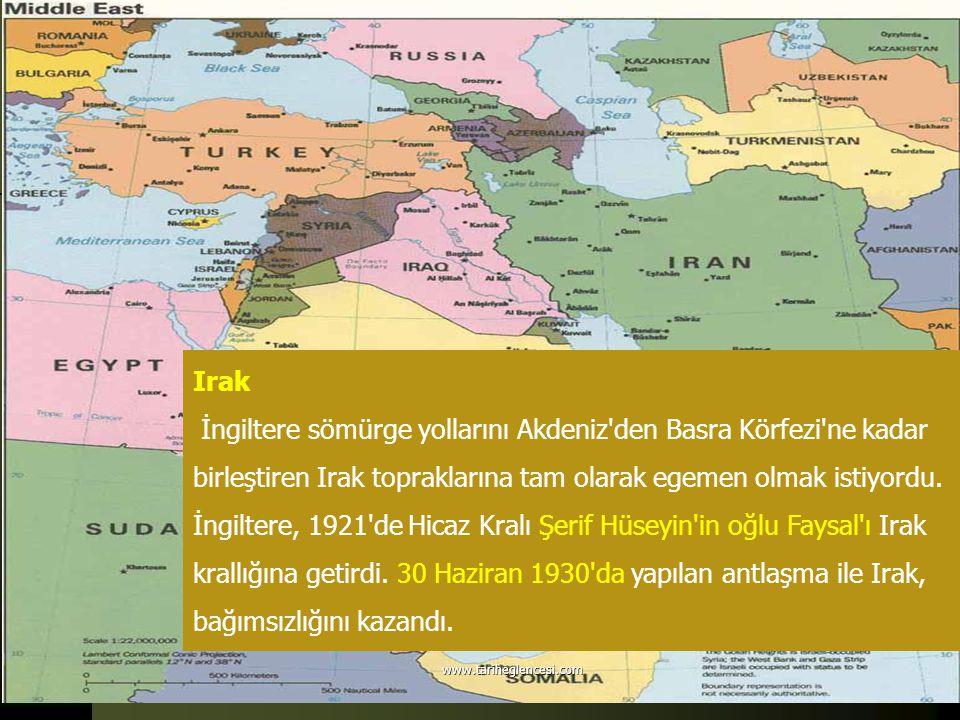 Irak İngiltere sömürge yollarını Akdeniz'den Basra Körfezi'ne kadar birleştiren Irak topraklarına tam olarak egemen olmak istiyordu. İngiltere, 1921'd