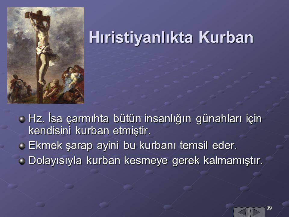 39 Hıristiyanlıkta Kurban Hz.